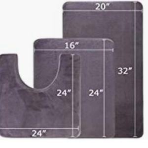 NWT- 3 piece memory foam bath mat set